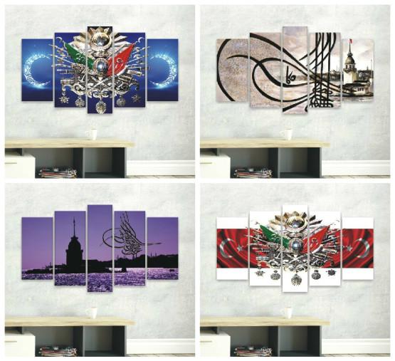 osmanli tugra ve armali en guzel 17 kanvas tablo modeli